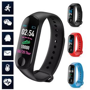 M3 Smart Bracelet orologio cardiofrequenzimetro monitor per il monitor del monitor del sonno del monitor del sonno Sport Step Orologi da polso per gli uomini donne