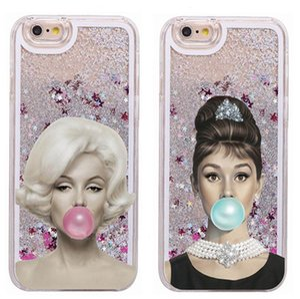 Творческий Одри Хепберн Crashproof Блеск Жесткий Задняя крышка Монро Чехлы для мобильных телефонов Защитные чехлы Для iPhone X XR XS MAX 6 6S 7 8 PLUS