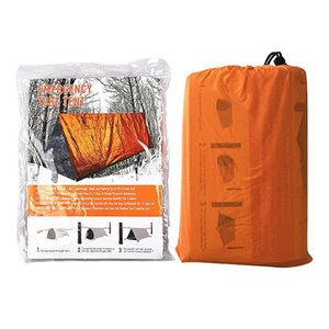 Shelter arancione di emergenza esterna tenda tende impermeabili Coperta termica di salvataggio di emergenza di campeggio Shelter pieghevole di sopravvivenza e Rifugi