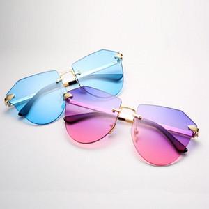 السهم بدون إطار الذهب النظارات الشمسية أزياء الأطفال المستقطبة نظارات معدنية السهم بدون إطار السهم بدون إطار قليلا عارضة R8dQo bdehome VK