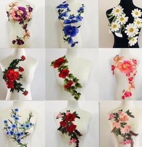 Große Blume Stickerei Applique Patches Nähen auf Pacthes Spitze Stoff Motiv Kleidung verziert DIY Nähzubehör