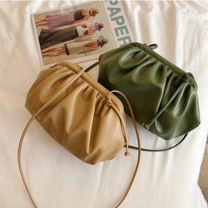 Designer Fashion Messenger Cloud-wrapped Soft PU Leather Small Bag Shoulder Slant Handbag Day Clutches bags Crossbody Bags