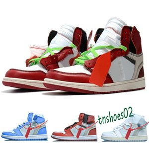 2020 Classic 1s Red Black 1 White Chicago University blue Air Mens Basketball Shoes For Men Sports Womens Sneakers Trainers off Size 12 n46