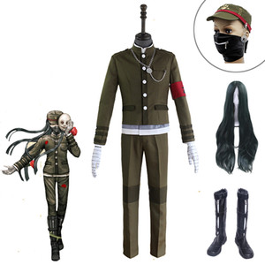 Danganronpa V3 Armonía Killing Korekiyo Shinguji Cosplay ropa de época Accesorios pelucas de alta calidad
