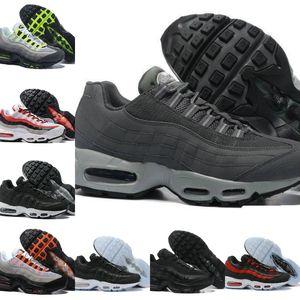 2020 Nike Air Max 95 shoes New Airmax 95 de los hombres de los zapatos corrientes de deportes de lujo de aire Negro Azul Gris Sole Entrenadores Tenis moda de calzado deportivo