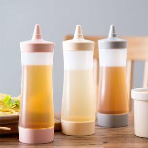 350ml Kunststoff Würzen Flasche Salatdressing Jam Ketchup-Flasche Squeeze-Flasche Küche-Werkzeug-Spice Werkzeuge DHL XD23134