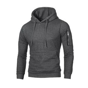 SFIT 2019 Maglione Uomini Pullover Nuova Moda Uomo solido casuale con cappuccio maglione autunno inverno caldo Femme vestiti Slim Fit Jumper