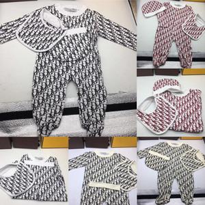 Bebek Boys Kız Rompers Tasarımcı Çocuklar Uzun Kollu Pamuk Tulumlar Bebek Kız Pamuk Romper Boy Giyim