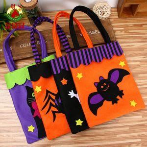 Halloween Party Decoration Candy Bag Skull Halloween Pumpkin sac à main sac fourre-tout pour enfants Sac cadeau organisateur sacs non-tissés Pouch VT0568