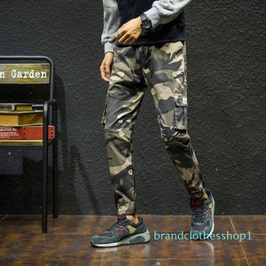 mens designer Autumn Japanese fashion brand Cotton camouflage feet ankle-length pants youth sports casual pants male