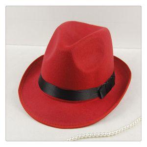 Cappello da uomo Jazz Cappello a tesa larga Fedora unisex Cappello in feltro di lana Cappello classico largo per cappelli Vogue testa morbido 2019
