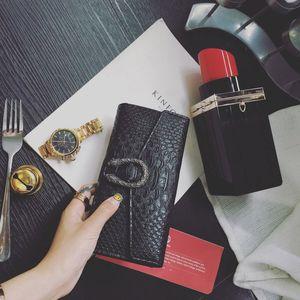 여성 악어 패턴 PU 가죽 지갑 카드 홀더 가방에 대한 디자이너 - 새로운 여성 지갑 긴 여성 지갑 지갑 패션 핸드 클러치 백
