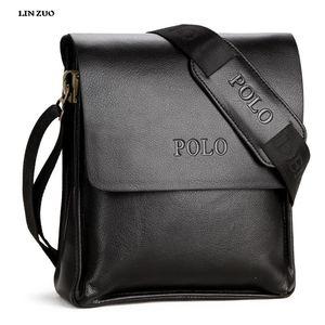 hxloutdoorstore جلد اصلي 100٪ لعبة البولو رجل حقيبة عارضة رجل الأعمال رسول حقيبة خمر رجال CROSSBODY حقيبة BOLSAS L60 الذكور