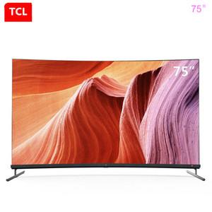 TCL superficie curva servizio 75 pollici 4K schermo pieno pieno scena AI, nuovo prodotto caldo per l'intelligenza artificiale trasporto libero TV!