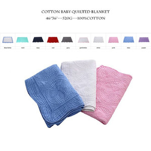 Newborn Wholesale Heirloom Baby Bianco Bianco Bianco Blanket Ruffle Swaddle Navy Trapuntato Coperte con trapuntate Minky Toddle Regalo di cotone Blanks Quilts DOM APQJW