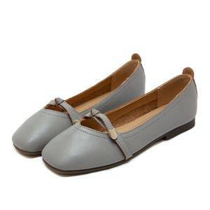 Toe quadrado Mulheres Shallow único sapatos apartamentos Loafers Casual Slip On Shoes Ballet Office Lady sapatos confortável macio Zapatos Mujer