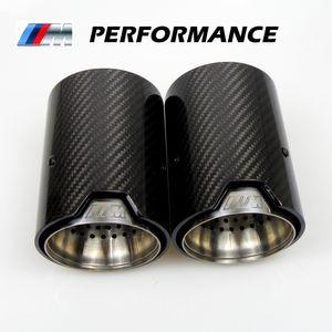 2PCS réel en fibre de carbone Embout d'échappement Tuyau Silencieux pour BMW M Performance tuyau d'échappement M2 M3 F87 F80 M4 M5 F82 F83 F10 M6 F12 F13