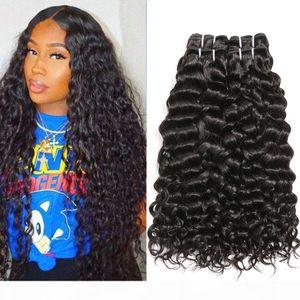 Lungo Water Wave Capelli Bundles capelli peruviani Bundles Big ricci Water Wave capelli peruviani che tessono Lordo Virgin riccio Bundles