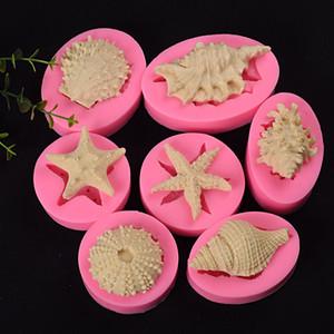 7sizes Silikon Fondantform Shell-Form-Silikon-Form-Fondant-Zuckerfertigkeit-Form-DIY Kuchen, Backen Küchenwerkzeug FFA3745-2