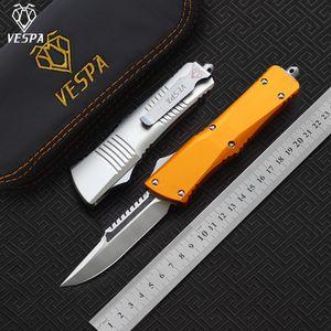 VESPA D2 raso lama (S / E) coltello Maniglia: Alluminio, la sopravvivenza di campeggio esterna coltelli strumenti EDC