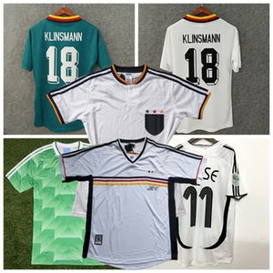 Retro Allemagne 1988 1990 1994 1996 1998 2004 maillots de football SCHWEINSTEIGER KLOSE MULLER PODOLSKI KLINSMANN Matthäus rétro chemise de football