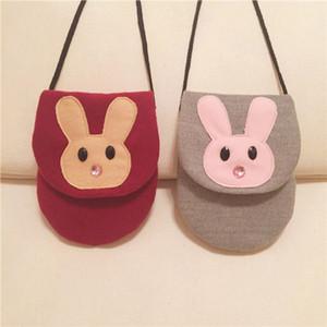 Sacchetto del messaggero del coniglio delle neonate Sacchetto sveglio del fumetto della borsa della moneta della borsa della borsa dei bambini del fumetto Sveglio C5999