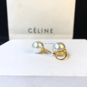 Latón material de encanto colgante pendiente con la naturaleza blanca desigh perla redonda para las mujeres de la boda regalo de la joyería gota de envío PS6625A