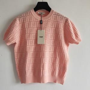 Sommer-Entwerfer-Frauen Shirts Sommermode Luxuxdamen Knit T-Shirts beiläufige Marken-Top Tees FF Brief Mädchen Kurzarmhemd 2020666K
