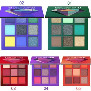 CmaaDu Makeup Brand Beauty Diamond Eyeshadow Palette 9 colori Mini Eyeshadow 5 Stili Star Colors Eyeshadow Palette all'ingrosso
