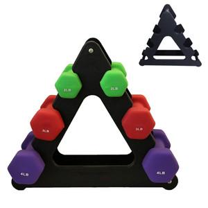 1pcs Dumbbell Bracket Triângulo Folhas Pequenas Big deixa Dumbbell Bracket de Fitness Gym Equipment Acessórios não incluídos