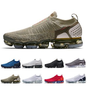 nike air vapormax flyknit 2  Running Athletic Shoes Almofada Branco Preto Vast Cinza Cromo Hot Punch Chrome Ginásio Azul Ao Ar Livre Das Mulheres Dos Homens Tênis Esportivos