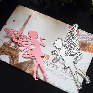 Borboleta Elf Metal Cutting morre Stencils fita DIY Scrapbooking cortes de morrer cumprimentam Ferramentas Cartão Decor Embossing Pasta Cut Artesanato