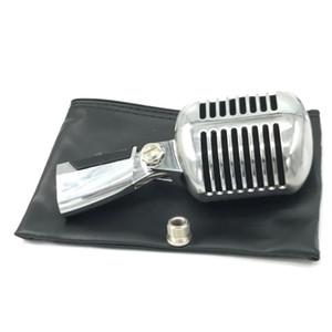 55SH динамический вокал ретро проводной микрофон стенд настольный микрофон держатель штатив для КТВ старинные микрофона караоке микрофон