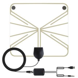 HD TV Transparent Antenna 50 Mile Ultra Thin Flat Indoor HDTV Amplified