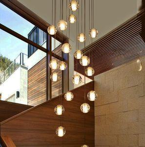 LED-Kristallglas-Kugel-hängender Meteor Regen Licht Meteoric Duschen Treppen Bar Droplight Deckenleuchter-Beleuchtung AC110-240V