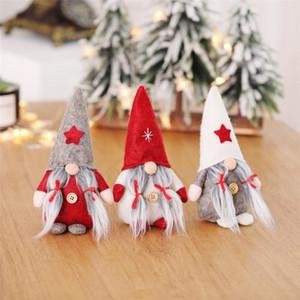 Noël Ornements Père Noël en peluche à la main Gnome scandinave Tomte suédoise Elf nain nordique Figurine Toy Noël Décorations présente JK1910