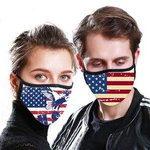Máscara Flag Impresso American National bandeira 3D Impresso lavável PM2.5 Máscaras Anti Rosto Máscara de poeira reutilizável Boca Muffle OOA7996