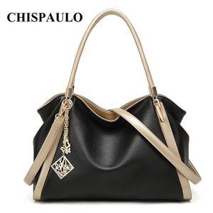 CHISPAULO Brand Designer Handbags High Quality Genuine Leather Bags For Women Messenger Bags Fashion Women's Shoulder Bags T580 T200511