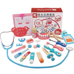 doctor toy set wooden children doctor play house model girls nurse doctor echometer pet farm products supplies