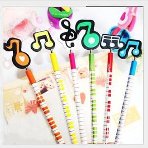 Mode Musiknotation 2B Handarbeit Bleistifte aus Holz Cartoon Musik Mark Bleistift Schreiben Bürobedarf Schule HA513