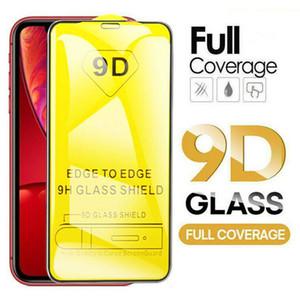 9D en verre trempé Plein Courage Protection d'écran pour iPhone 12 11 Pro max 7 8 PLUS Samsung A90 A50S J7 2018 redmi Remarque 8T Note 8 Pro Aucune boîte