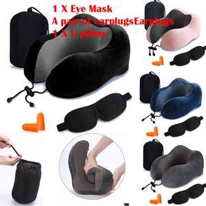 Дорожная подушка для шеи Memory Foam U-образная поддержка шеи подголовник дорожные подушки для офиса спальные путешествия