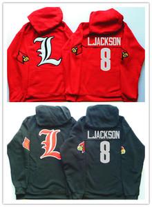 رجل لويزفيل الكاردينال بلوزات 8 L.Jackson البلوز سترات شخصية أي اسم عدد مخيط كلية لكرة القدم البلوز هوديس