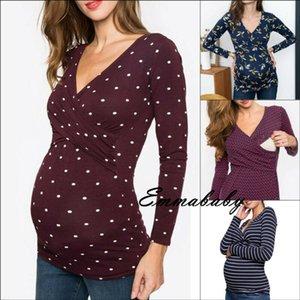 Беременная Одежда Для Беременных Кормящих Топы Мама С Длинным Рукавом Грудное Вскармливание Футболка
