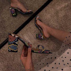 Oeak Woman Shoes Bohemia Fashion Ladies Slipper Summer Sauqre Heel Женская Обувь На Открытом Воздухе Женские Сандалии Slip On 2020