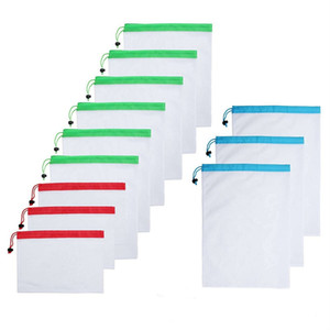reusable mesh bags for food fruit and vegetables bag Washable net Produce Bags for Grocery Shopping Kitchen Storage Organization