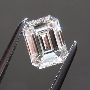 Emerald cortar 0.2CT navio livre para 12CT laboratório diamante real moissanite pedra de cor D clareza FL com um certificado para o anel, colar, relógio, etc.