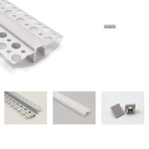 Профиль канала T встроенный светодиодный алюминиевый профиль, 9 мм pcb полосы ленты свет плоский край невидимый линейный канал для стены