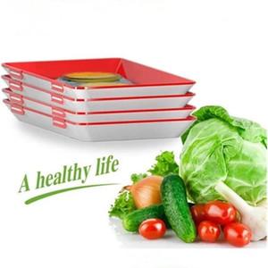 진공 신선한 쟁반 보존 트레이 보관 용기 크리 에이 티브 건강 식품 식품 봉인 뚜껑 주방 도구 디너 플레이트 DHD32
