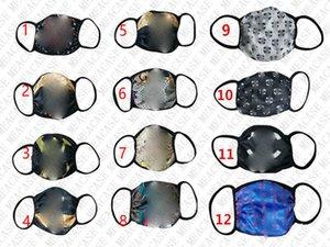 Tasarımcı Yıkanabilir Moda Yüz Maskesi Unisex Yaz Yüz Maskeleri sunproof Anti-toz Bisiklet Spor Hava Ağız Kapak Maskeler Butik Ucuz D8509